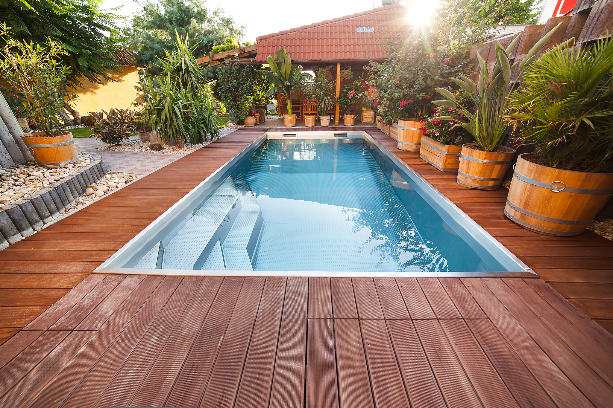 Renovation: Replacement of a Plastic Pool with a Stainless-Steel One