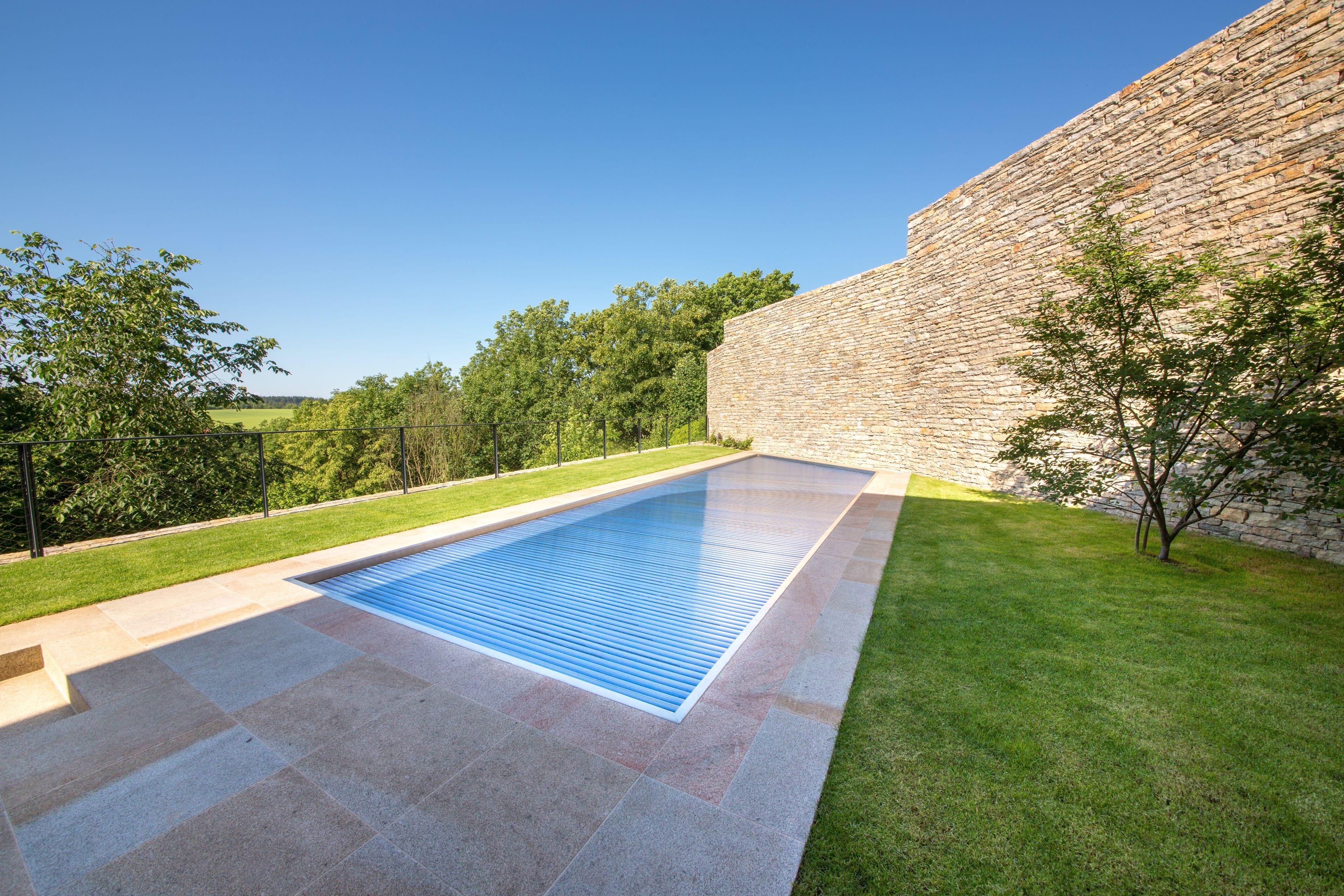 Stainless-Steel Pool in Geometric Modern Design