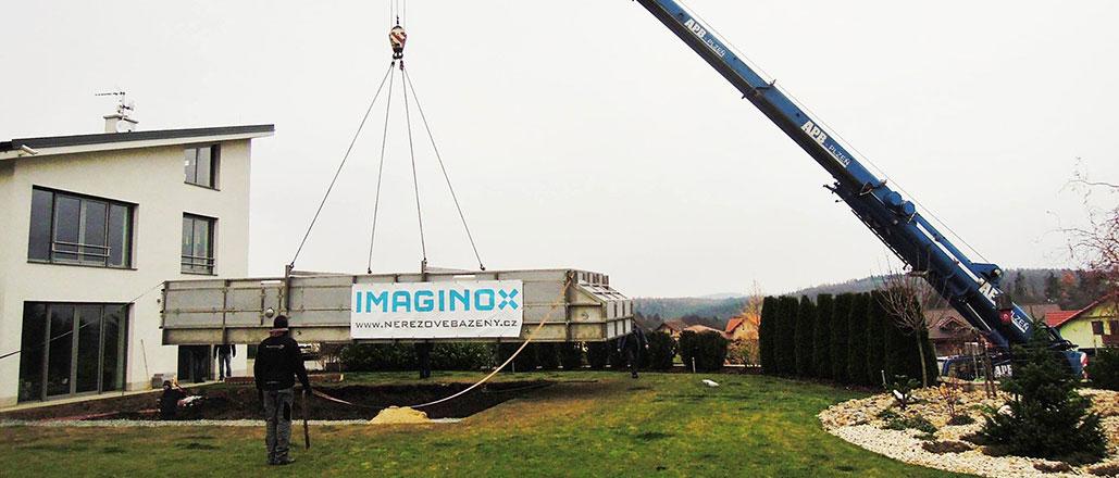 Doprava a montáž nerezového bazénu | IMAGINOX