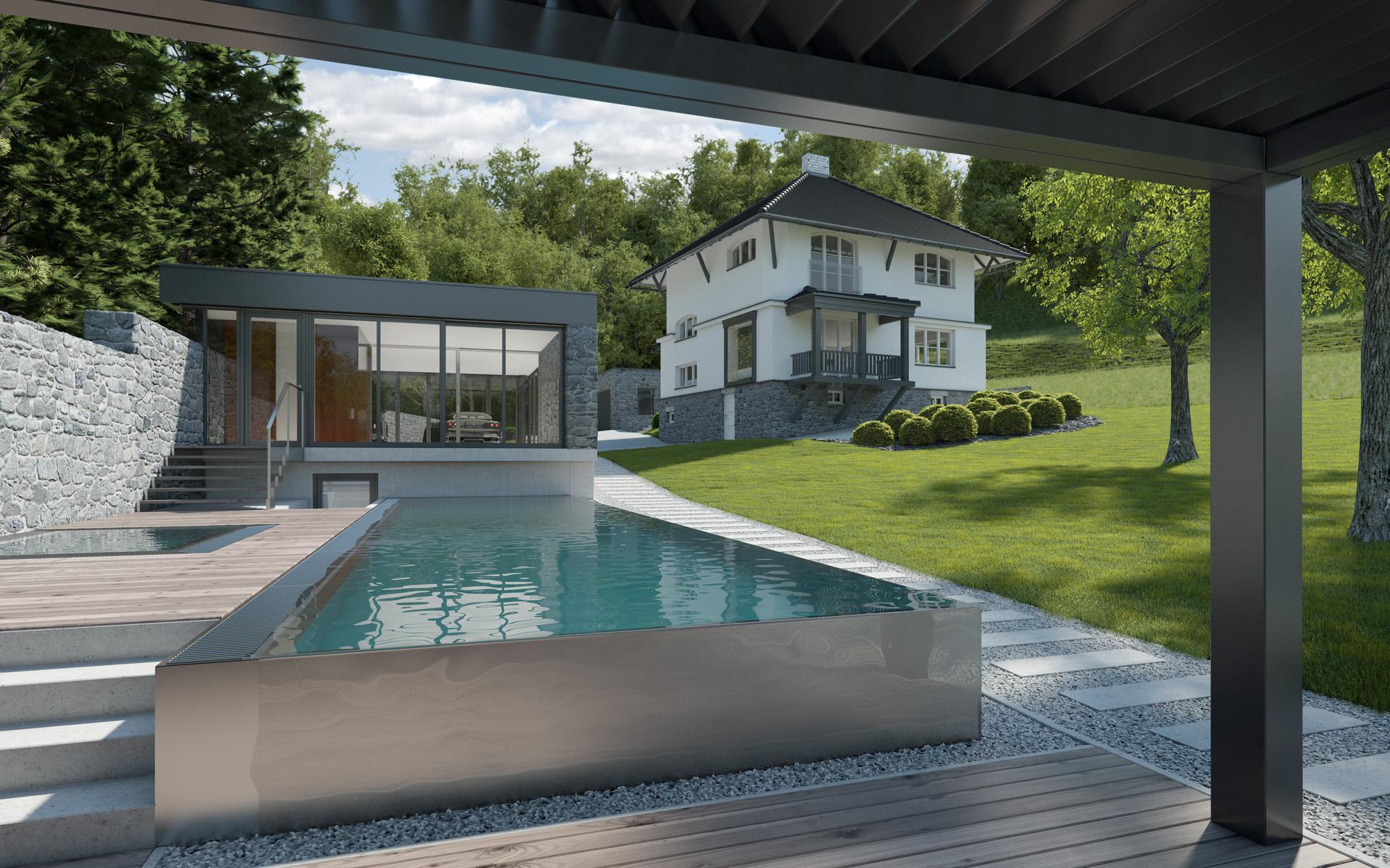 Skimmerový nebo přelivný bazén? | IMAGINOX