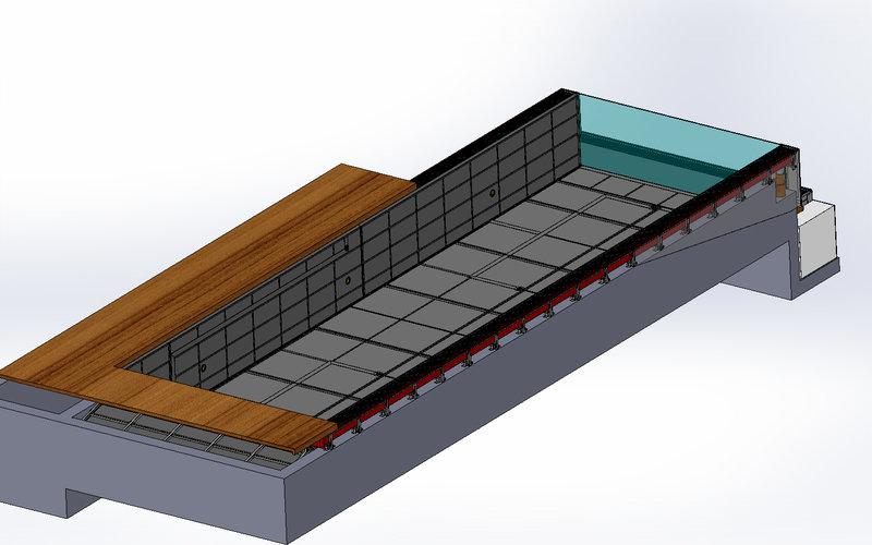 Způsoby ukotvení bazénu a stavební příprava | IMAGINOX